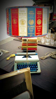 Reclaimed Ribbon Lamp Shade Do It Yourself Crafts, Crafts To Make, Diy Crafts, Lampshades, Lampshade Ideas, Ribbon Lamp Shades, Equestrian Decor, Horse Crafts, Diy Clock