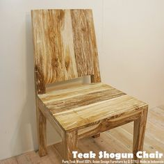 Modern Chairs アジアン家具 チーク無垢材ダイニングチェアWW 椅子 イス 展示品 北欧 インテリア 雑貨 ¥12400yen 〆10月23日