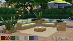 Garden set by Souris at Khany Sims via Sims 4 Updates