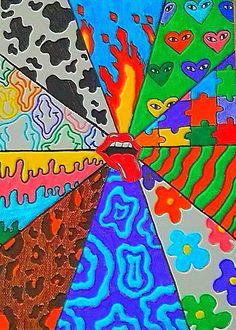 Retro Wallpaper Iphone, Hippie Wallpaper, Trippy Wallpaper, Aesthetic Iphone Wallpaper, Hippie Painting, Trippy Painting, Arte Indie, Indie Art, Cute Canvas Paintings