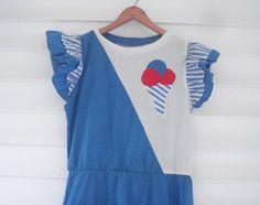 Summery ice cream cone dress by vivaropa on Etsy