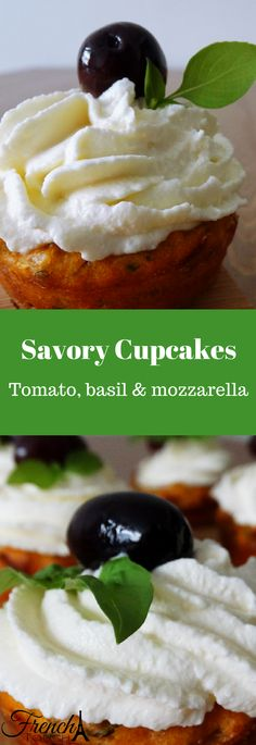 Fancy & delicious, these savory cupcakes will be perfect for the celebrations to come! Perfect as an appetizer or for brunch, you'll be sure to impress!