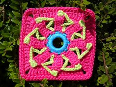 """""""Granny Square"""" made with the fifth Paradise Flower from free pattern!"""