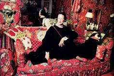 Diana Vreeland wore her enamel Bulgari snake belt as a necklace.  Photo by Jonathan Becker.