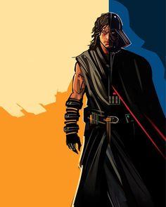 Anakin and Vader #starwars