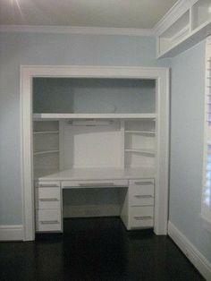 17 best turning a closet into spectacular images closet desk rh pinterest com