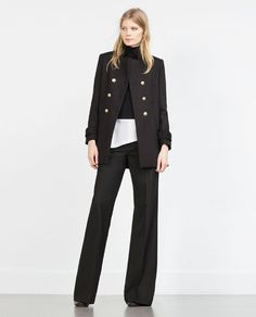 Image 1 of LONG DOUBLE-BREASTED BLAZER from Zara