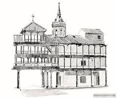 plaza de tembleque dibujo a lápiz My Drawings, Notre Dame, Cathedral, Plaza, Building, Travel, Don Quixote, Pencil Drawings, Paths