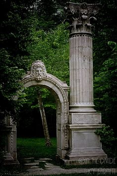 The Way To The Forgotten Garden - Fine Art Photography - Gothic Woodland Forest Enchanted Magic Architecture Greek Roman Victorian Fantasy.via Etsy.