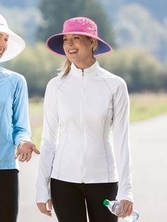 Women's Bodyshade Workout Jacket - Solumbra: All Day 100+ SPF Sun Protective Clothing - Style# 14840