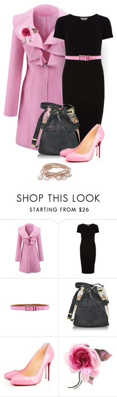 """""""pink & black/ outfit only"""" by art-gives-me-life ❤ liked on Polyvore featuring WithChic, Dorothy Perkins, Kenzo, Christian Louboutin, Gucci, Marjana von Berlepsch, Wonderland, contestentry and fashionconnection"""