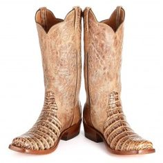 BootDaddy Collection with Rios of Mercedes Caiman Triad Cowgirl Boots - Womens Exotic Boots - Womens Boot Styles - Cowgirl Boots - Boots #CowboyCupidBeMine