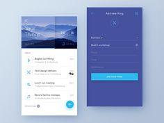 Dreamlist app for iOS. Web Design, App Ui Design, Mobile App Design, User Interface Design, Mobile Ui, Graphic Design, Android Material Design, Google Material Design, Todo List
