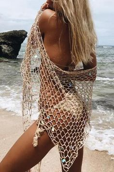 Sequin Hollow Cover Up –vacation outfit ideas,vacation wear,vacation clothes,outfit vacation,vacation fashion,summer vacation style,travel dresses summer,summer vacation clothes  #vacationdresses #caribbean #beach #vacationdressesmexico #vacationdressescasual #summer #boho #maxi #hawaii #streetstyle #fashion #stripeddressoutfit #vacationdressesbeach