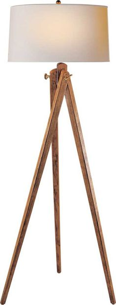 "TRIPOD FLOOR LAMP   2 in den   61"" H x 21"" W (shade is 20"")  $357"