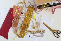 Statement necklace tutorial. Jewellery making