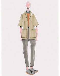 Milan Men's Fashion Week Preview - Designers Spring 2013 Sketches: Z Zegna