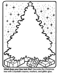 FREE Printable #Christmas Coloring Pages and Activity Sheets such as decorating this cool Christmas tree!