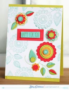 Happy For You Card by Betsy Veldman for Papertrey Ink (January 2014)