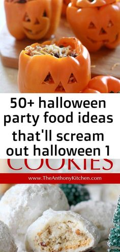 Halloween Party Food Ideas that'll scream out Halloween – Hike n Dip An easy cookie recipe for Mexican Wedding Cookies (also know as snowball cookies), a buttery, melt-in-your-mouth cookie rolled in powdered sugar. Halloween 1, Halloween Food For Party, Xmas Party, Easy Desserts, Dessert Recipes, Mexican Wedding Cookies, Snowball Cookies, Dessert Decoration, Best Cookie Recipes