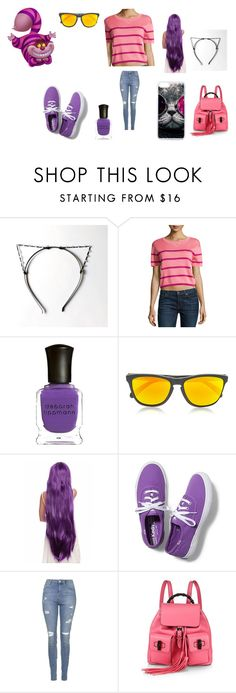 """The Purrrfect kitty"" by hannahnewtonxx ❤ liked on Polyvore featuring RED Valentino, Deborah Lippmann, Oakley, Keds, Topshop and Gucci"
