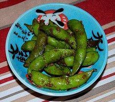 Hawaiian style spicy soy sauce edamame