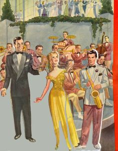 Glenn Miller & Marion Hutton ~ Turnabout 1942 Glenn Miller, Bobe, Vintage Paper Dolls, Popular Music, Old Pictures, The Past, Retro, Painting, Orchestra