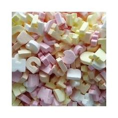 My mum used to work at the factory (Dickson Orde and Co.) where they made these sweets, they were small candy letters of the alphabet.