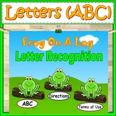 "Interactive Whiteboard Activity for Kindergarten: Frog On A Log is an interactive PowerPoint game. It is a perfect way for students to learn their letters. Students will love saying the chant to find the frog. ""Little Frog, Little Frog are you in the red log?"""
