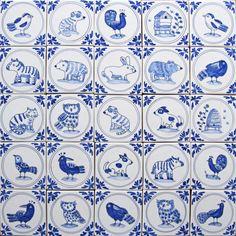 Mini Delft tiles by Carlo Briscoe