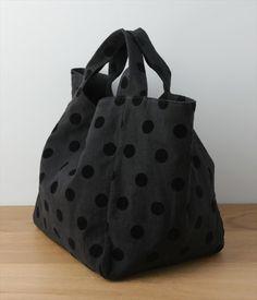 Japanese Bag, Japanese Sewing, Polka Dot Bags, Rice Bags, Fab Bag, Hand Embroidery Videos, Diy Tote Bag, Best Handbags, Fabric Bags