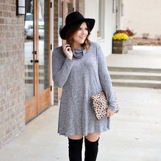 Have you snagged this $14 dress yet? It's perfect for those casual holiday parties!  I've rounded up this look and more on the blog to give you some Thanksgiving outfit inspiration. Shop it on the 'shop my insta' page at kassyondesign.com or via @liketoknow.it http://liketk.it/2pDAa #liketkit #ltksalealert #ltkunder50 #ltkunder25 #shein