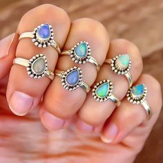 Ethiopian Opal Rings ♥️ Available at www.indieandharper.com