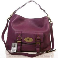 Womens Mulberry Alexa Leather Hobo Bag Purple Outlet Online