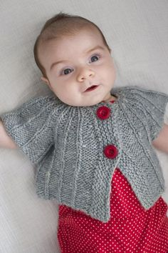 Top Down Baby Cardigan