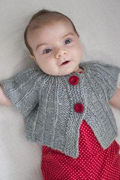 yoked baby cardigan