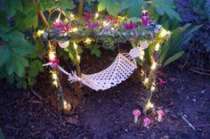 Fairy Garden Hammock Crocheted Fabric Miniature by FairyElements