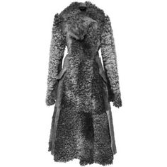 Proenza Schouler Grey Melange Swakara Fur Long Coat