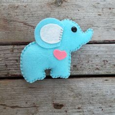 wool felt elephant  alluring aqua  by feltloved on Etsy