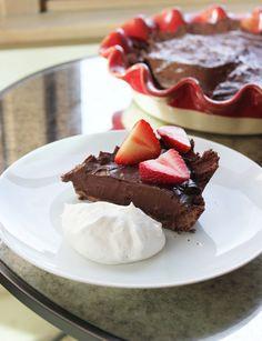 Chocolate Pie - Low Calorie Dessert!