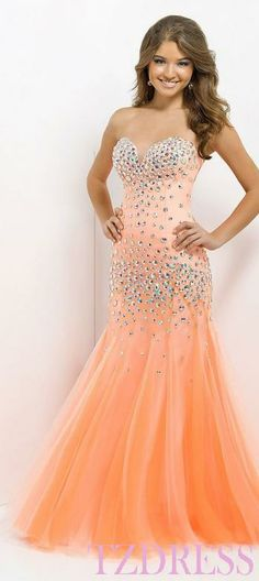 This color with this perfect amount of gems, is just the right definition of a prom dress!