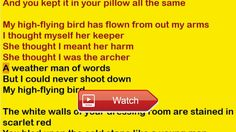 Elton John High Flying Bird Lyrics  This is a special versionperformance of this song the lyrics are being read by a computer voice This might be a hel