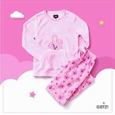 x Hunt Innerwear - Sleeping Pajama Set - Cooky Kpop Outfits, Cute Outfits, Mode Kpop, Bts Shirt, Bts Big Hit, Bts Clothing, Cute Pajamas, Kpop Merch, Bts Jungkook