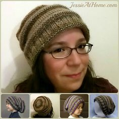 Emily's Super Slouchy Hat | Free Knit Pattern | Jessie At Home