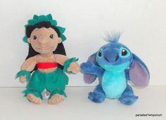 Disney Store Lilo & Stitch Plush Set Lot Hula Skirt Lilo #Disney #toys #stuffedanimals