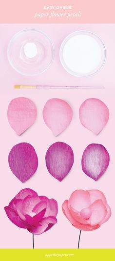 How To : OMBRE PAPER FLOWER PETALS