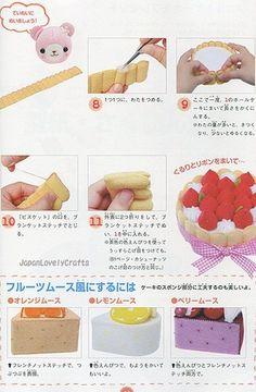 Kawaii Felt Sweets Cake Food Patterns от JapanLovelyCrafts