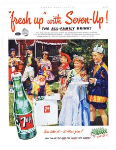 1952 Ad - 7-UP SEVEN-UP - Children's Costume Party Theme