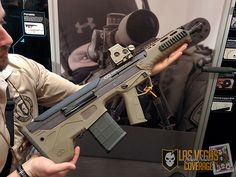 itstactical:  The MDR [Micro Dynamic Rifle] from DesertTech is a full 16″ barrel bullpup design rifle with a forward cartridge ejection mechanism. Also features ambidextrous design with no modifications necessary.