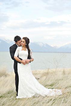 #wedding #dress #sleeves #modest #mormon #lds #lace